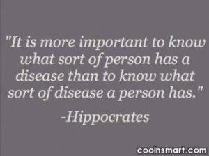 Hippocrates, mind body connections